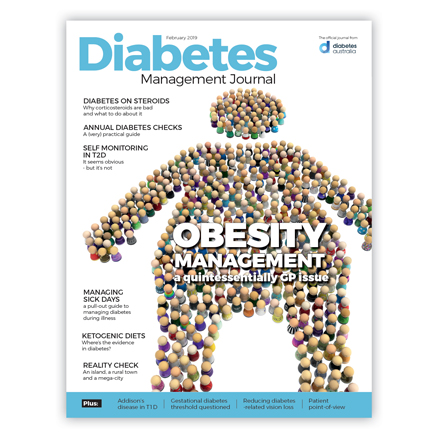 Diabetes Management Journal February 19 Edition cover